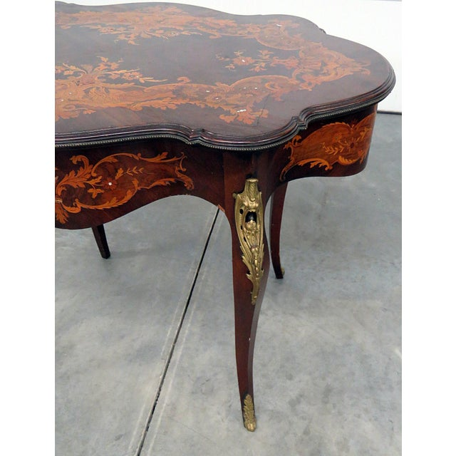 Victorian Inlaid Center Table For Sale - Image 4 of 13