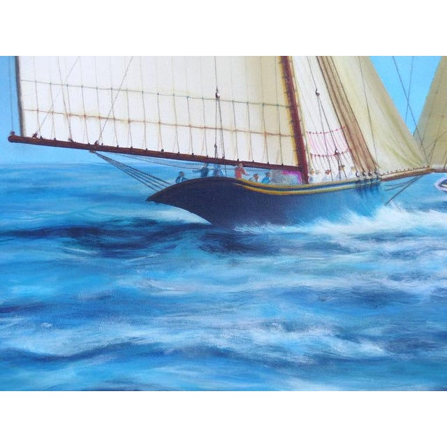 """1920s """"New Bounty"""" Contemporary Nautical Painting by Argentine Artist Gabriel Duarte For Sale - Image 5 of 11"""