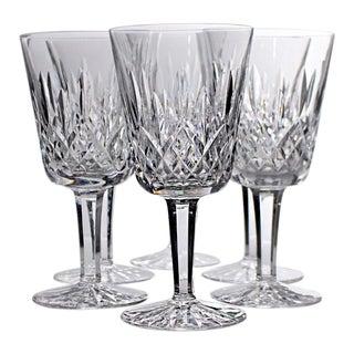 Vintage Waterford Crystal Lismore Water Goblet Glasses - Set of 6 For Sale