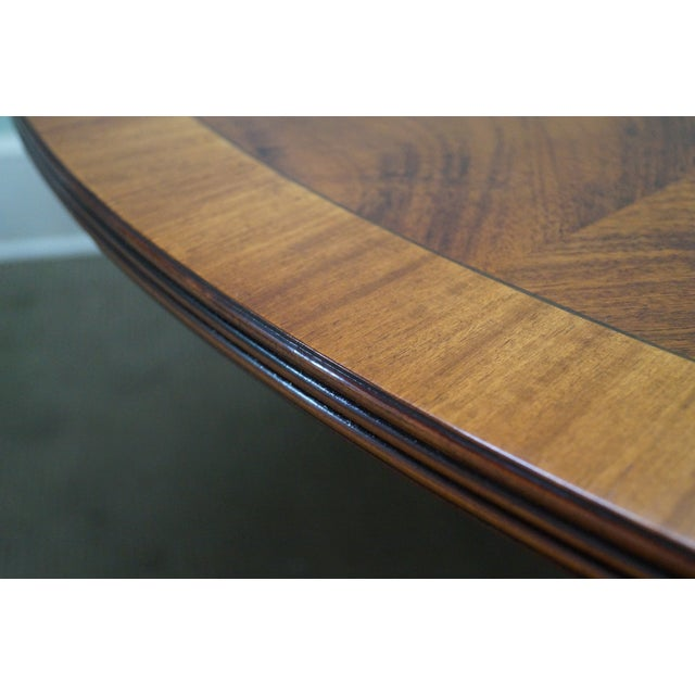 Flame Mahogany Duncan Phyfe Extension Dining Table - Image 7 of 10