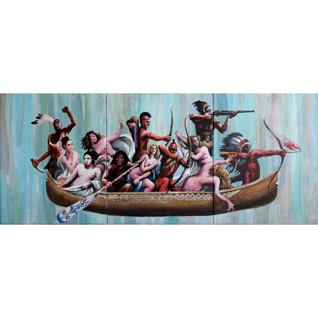 Oil Study for Myth of the Nubile Captives (Aka: Hey, That's Not Art!) - Image 1 of 8