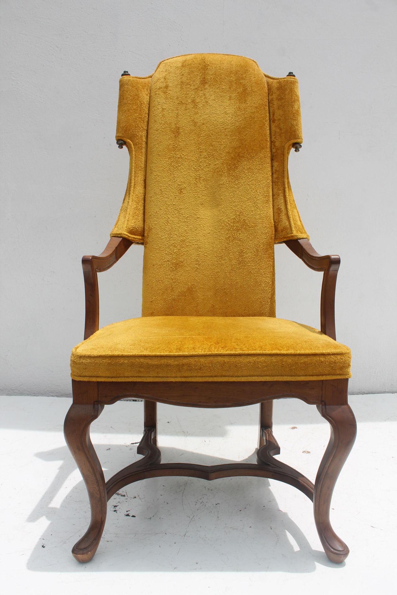 Tall Back Armchair By Jim Peed For His Esperanto Collection For Drexel .  Open Sides And