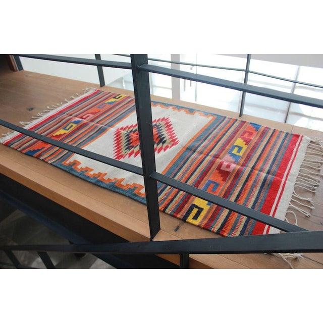 Traditional Sarape Wool Rug - Image 6 of 6