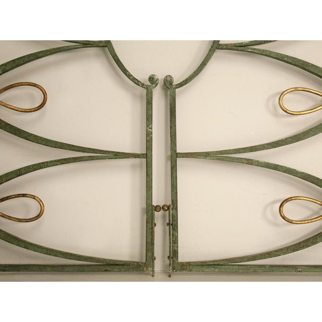 Metal Original Vintage French Iron and Steel Gates/Fire Screens - a pair For Sale - Image 7 of 10