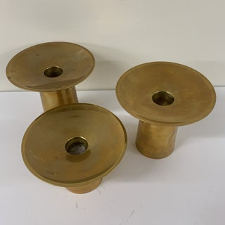 1960s Mid- Century Brass Candle Holders - Set of 3 Preview