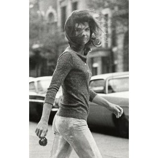 Windblown Jackie, New York City, silver gelatin print by Ron Galella