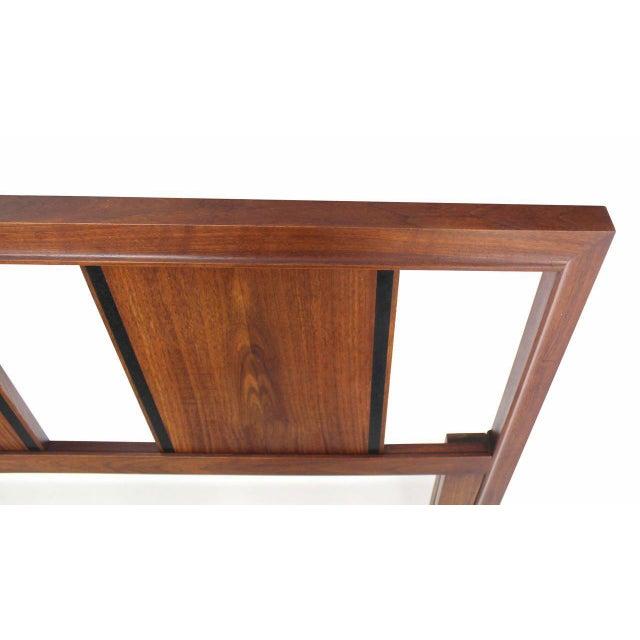Mid-Century Modern John Stuart King Size Walnut Headboard For Sale - Image 3 of 5