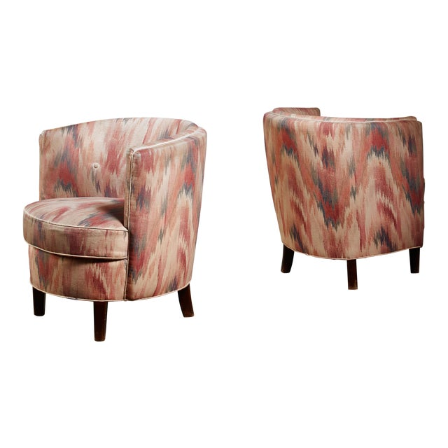 Pair of Danish Club Chairs, 1940s For Sale
