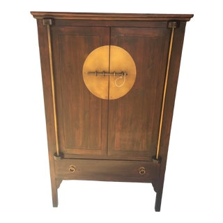 Asian Armoire With Brass Trim Cabinet Tansu For Sale