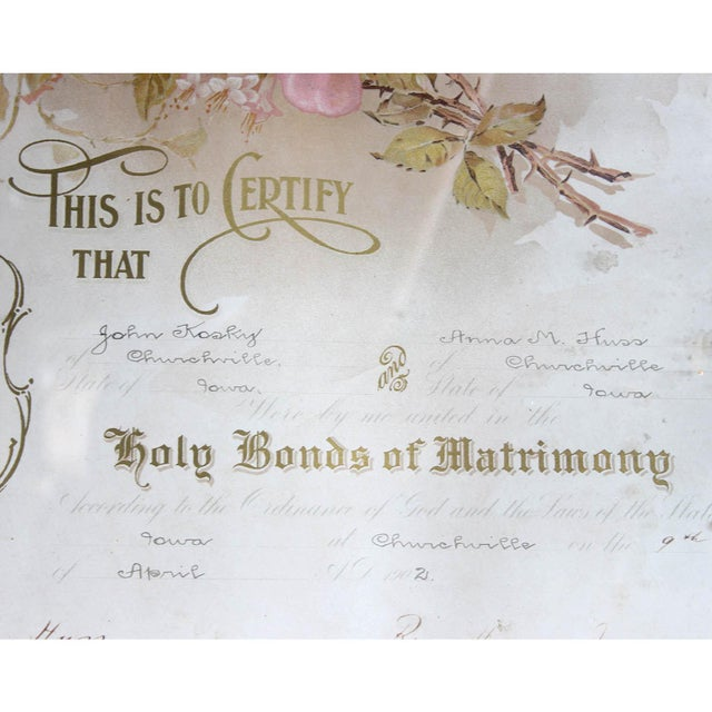 1900's Marriage Certificate - Image 6 of 9