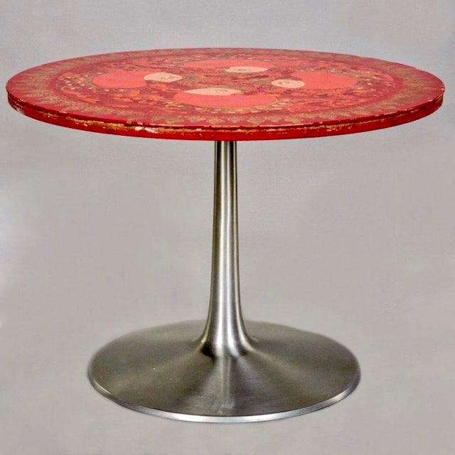 Danish Poul Cadovius Round Pedestal Table for France & Son - Image 2 of 4