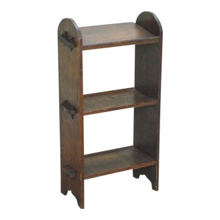 Antique Oak Arts & Crafts Mission Style Small Bookcase