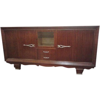 Vintage French 1940's Wave Sideboard For Sale