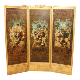 Late 19th Century Régence Style Folding Screen For Sale