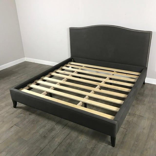 Crate & Barrel Upholstered King Bed - Image 3 of 11