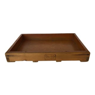 Meiji Period Wood and Copper Tray For Sale