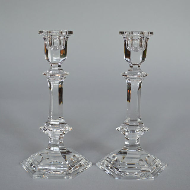 Baccarat Crystal Candlesticks - A Pair - Image 2 of 6