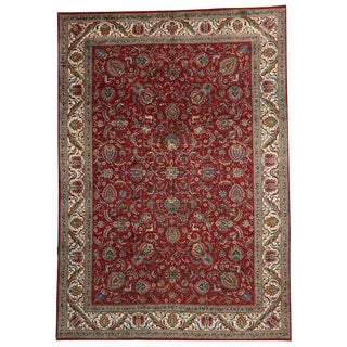 "Vintage Persian Tabriz Traditional Style Hunting Scene Gallery Rug - 11'3"" X 16'1"" For Sale"