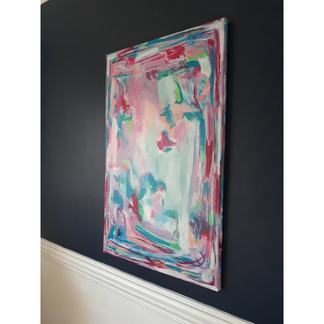 """""""Perfect Alignment"""" Abstract Art on Canvas by Michelle Chong For Sale - Image 6 of 12"""