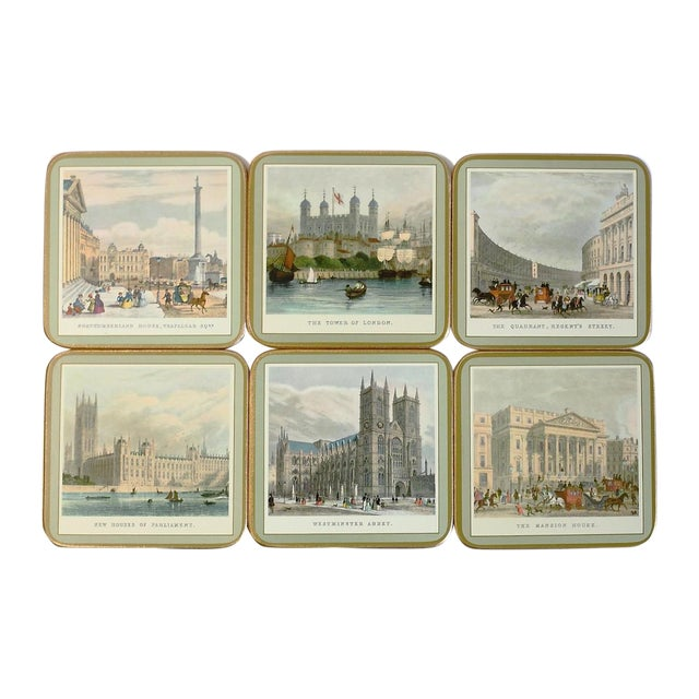 Coasters of 19th Century London - Set of 6 For Sale