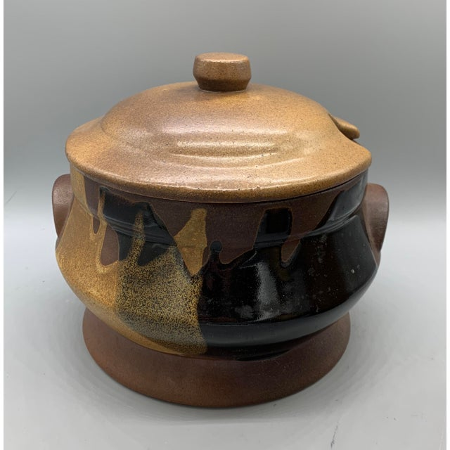 Pottery Craft's Plaid Stoneware Soup Tureen and Kitchen Canisters