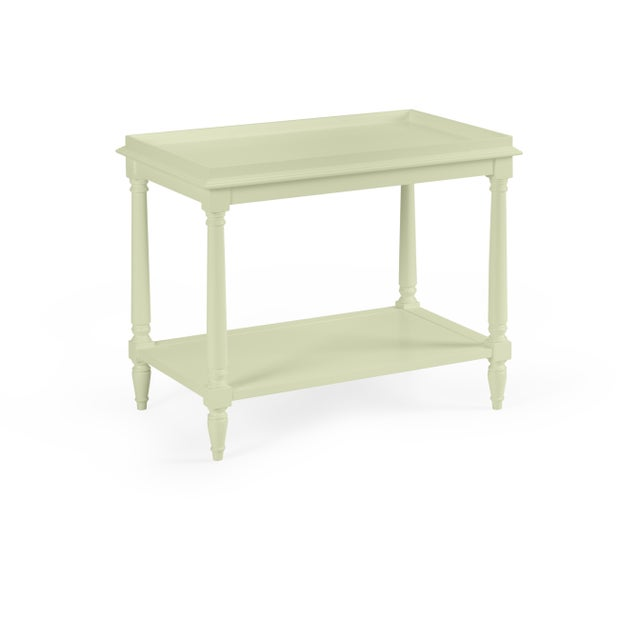 Transitional Casa Cosima Revere Side Table, Guilford Green For Sale - Image 3 of 3