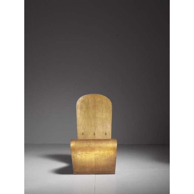 Mid-Century Modern Herbert Von Thaden Bent Plywood Lounge Chair, USA, 1940s For Sale - Image 3 of 10