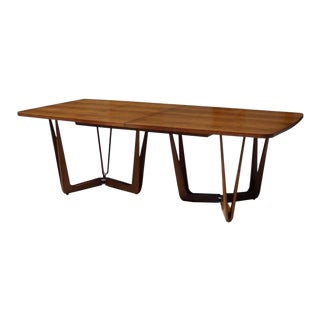 Studio Built Custom Walnut Dining or Conference Table For Sale
