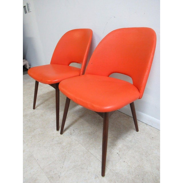 Animal Skin Adrian Pearsall Craft Associates Scoop Side Chairs - A Pair For Sale - Image 7 of 9
