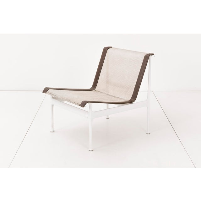 Richard Schultz for 1966 series for Knoll. Set of four outdoor lounge chairs. No longer in production. Seat and back are...