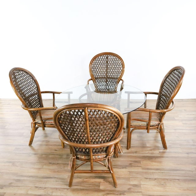 Vintage McGuire Rattan Dining Set - 5 Pieces For Sale - Image 9 of 9