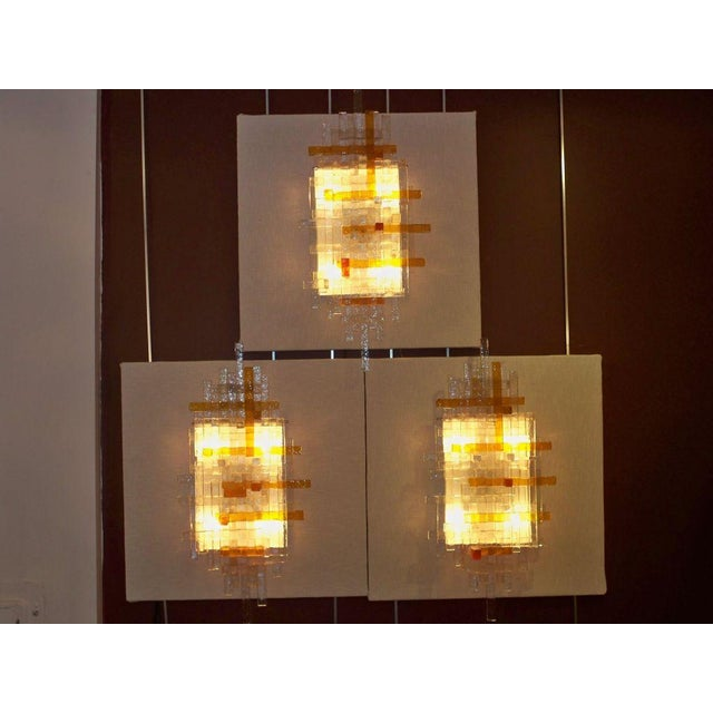 1970s Poliarte Single Large Glass Wall Sconces Italy circa 1970 For Sale - Image 5 of 5