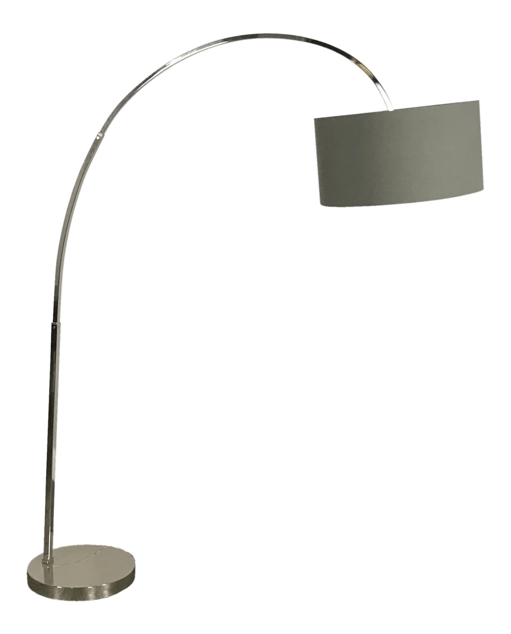 CB2 Chrome Hanging Floor Lamp
