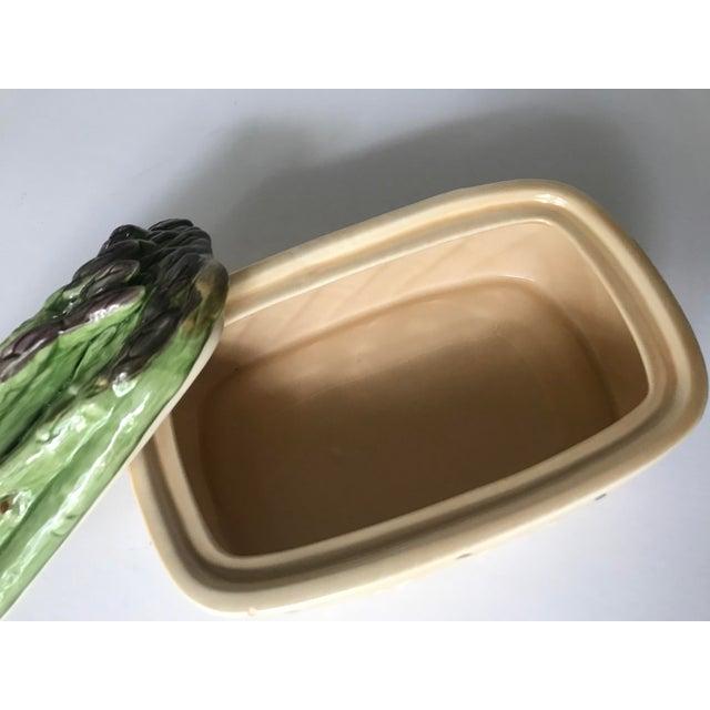 Ceramic Vintage Ceramic Basket With Asparagus Lid For Sale - Image 7 of 12