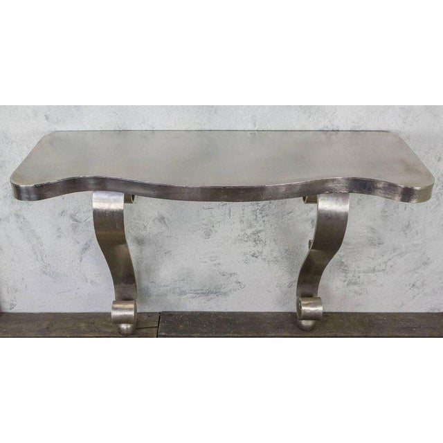 French Polished Steel Console - Image 3 of 11