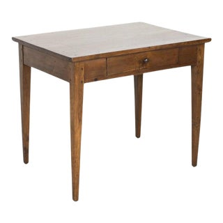 19th Century French Country Primitive Side Table or Work Table For Sale