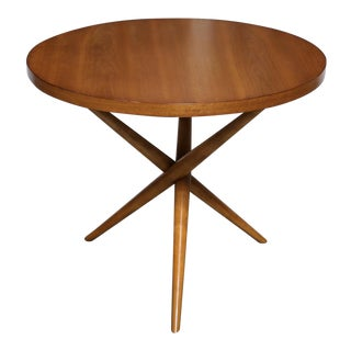 Mid-Century Modern t.h. Robsjohn-Gibbings for Widdicomb Walnut Side Table For Sale