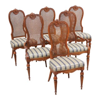 Drexel Marchesa Cane Back Dining Chairs - Set of 6