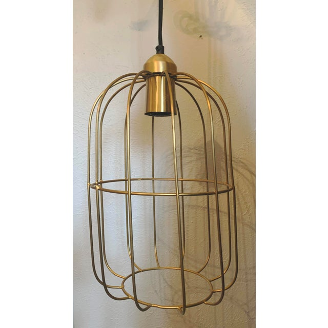 Brass Caged Dome Pendant Lights by Kalalou For Sale - Image 13 of 13