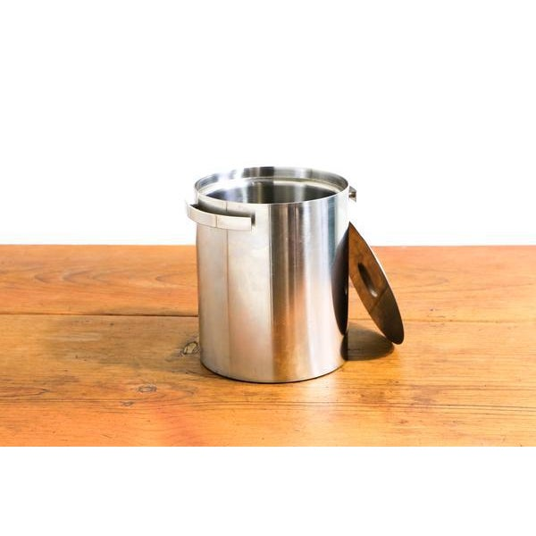 Vintage Arne Jacobsen for Stelton Stainless Steel Ice Bucket - Image 3 of 4