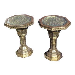 "Islamic 'Hexagon"" End Tables- A Pair For Sale"