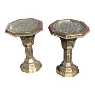 "Pr of Islamic Mid East 'Hexagon"" End Tables"