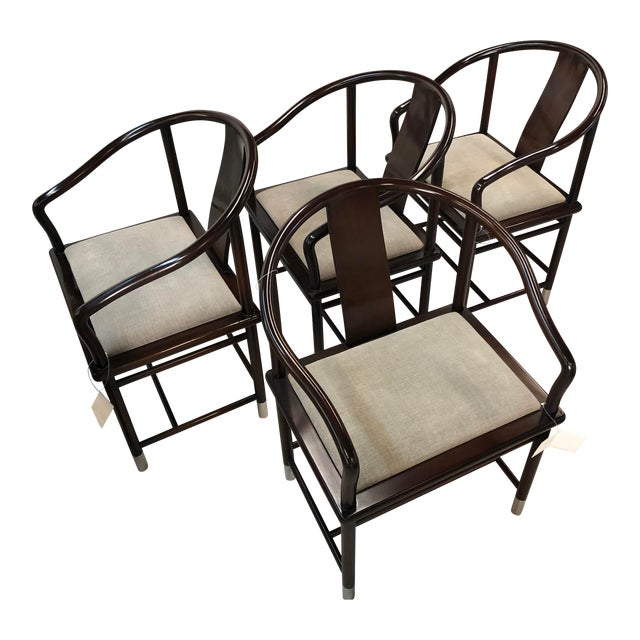 1990s Brueton Ming Inspired Chairs - Set of 4 For Sale