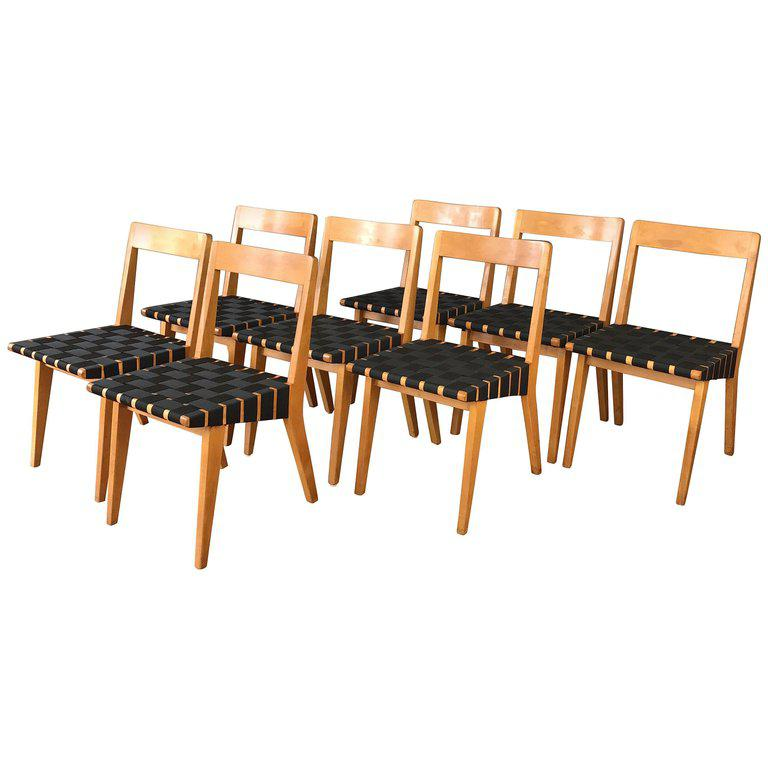 Jens Risom For Knoll Side Chairs   Set Of 8 For Sale   Image 11 Of
