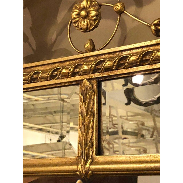 Adams Style Beveled Mirror in Finely Carved Frame For Sale In New York - Image 6 of 11