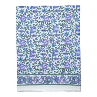Aria Fitted Sheet, King - Lavender & Blue For Sale