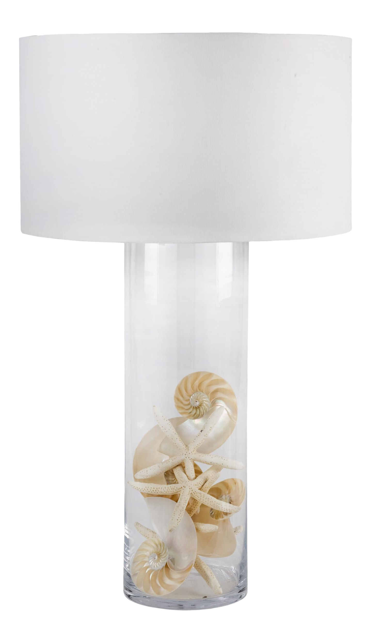 Picture of: Glass Cylinder Table Lamp Chairish