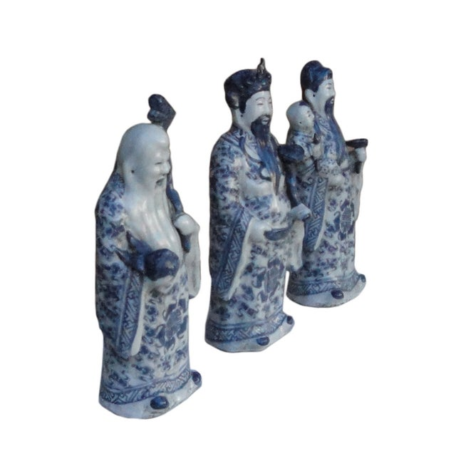 Chinese Handmade Blue & White Porcelain - Set of 3 - Image 3 of 7