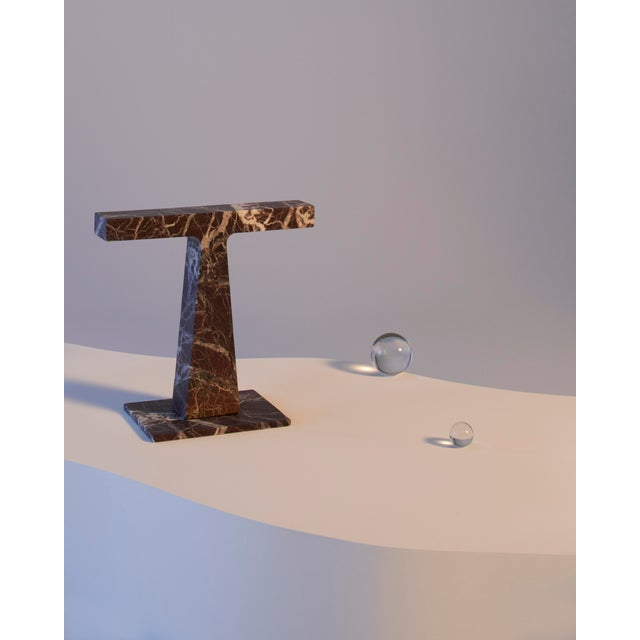 Not Yet Made - Made To Order Red Levanto Marble Lamp by Niko Koronis, Made in Italy For Sale - Image 5 of 10