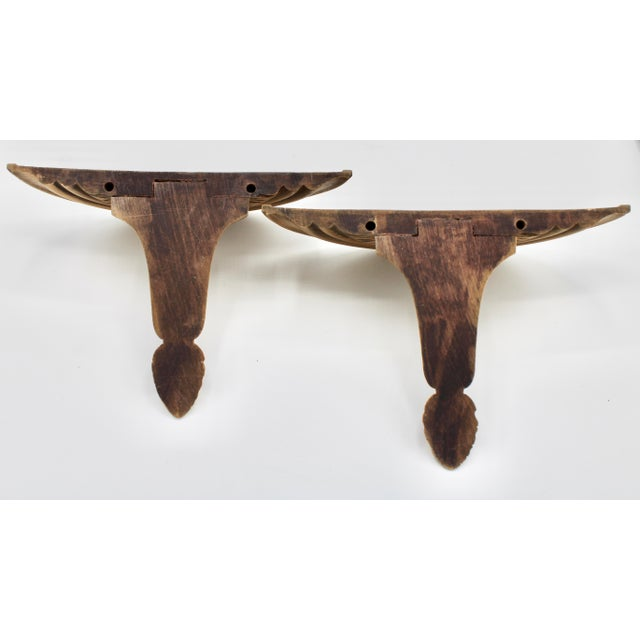 Neoclassical Golden Gilt Wood Wall Shelves - a Pair For Sale - Image 9 of 10